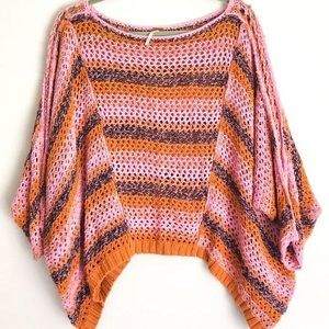 Free People Crochet Slouchy Sweater